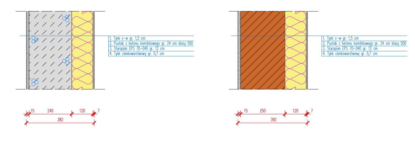Model obliczeniowy ściany - 2 rozwiązania