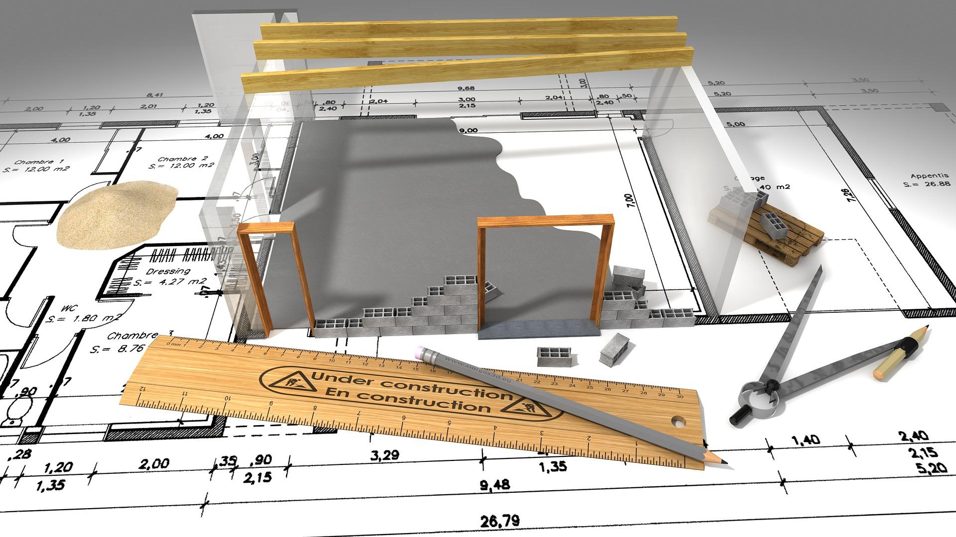 Rzut budynku jednorodzinnego